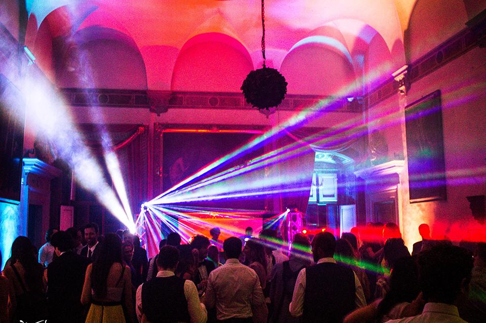 illuminazione pista da ballo